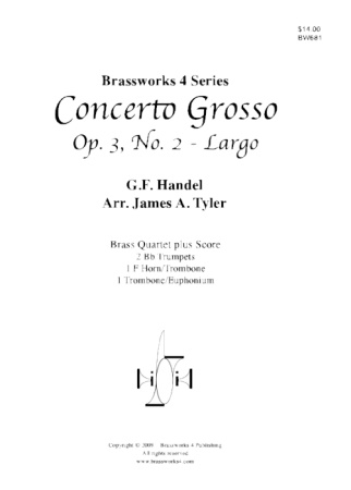 CONCERTO GROSSO Op.3, No.2 Largo