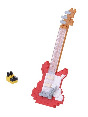 NANOBLOCK Electric Guitar (Red)