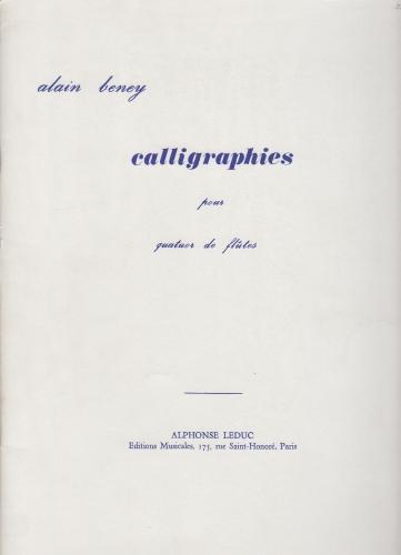 CALLIGRAPHES playing score