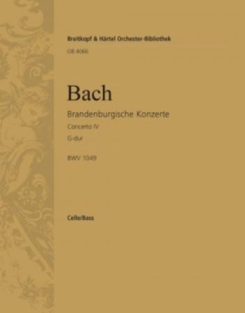 BRANDENBURG CONCERTO No.4 cello 2/bass part