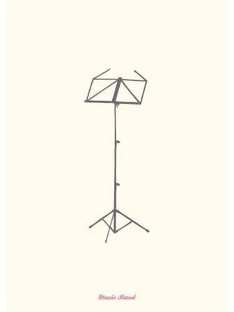 GREETING CARD Music Stand