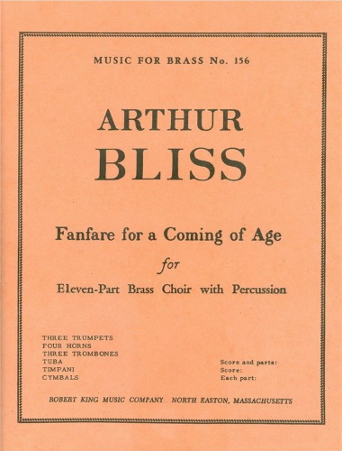 FANFARE FOR A COMING OF AGE (score & parts)