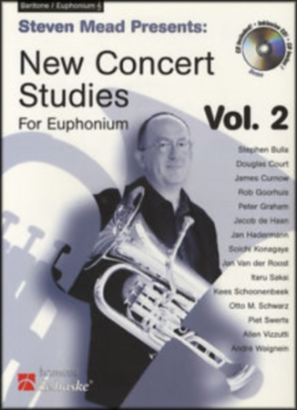 NEW CONCERT STUDIES for Euphonium Volume 1 + CD (treble clef)