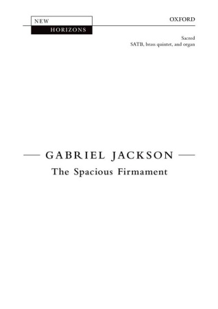 THE SPACIOUS FIRMAMENT (vocal score)