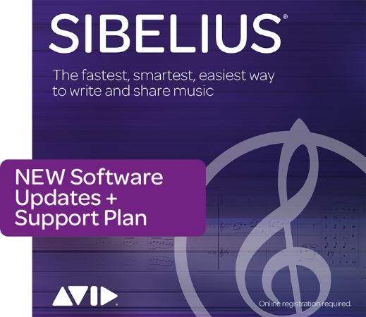 SIBELIUS New Support Plan for 1 Year (Digital Delivery)