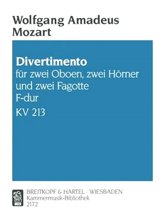 DIVERTIMENTO No.8 in F major KV213 (parts only)