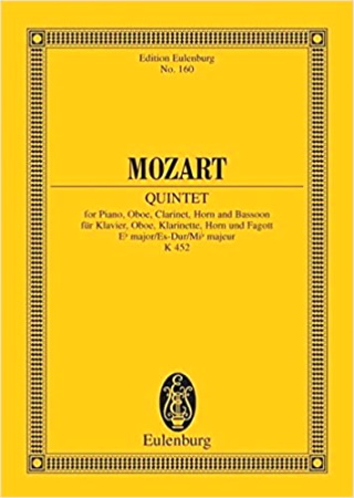 QUINTET in Eb major K452 Miniature Score