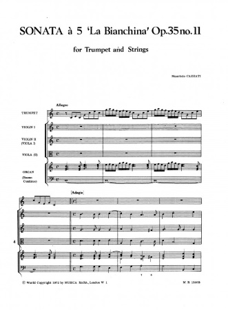 SONATA a 5 'La Bianchina' Op.35 No.11