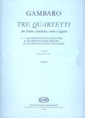 QUARTET No.1 in F major (set of parts)