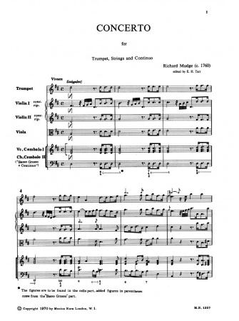 CONCERTO in D major (score & parts)
