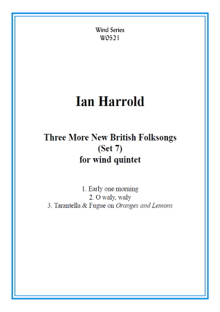 THREE MORE NEW FOLKSONGS (score & parts)