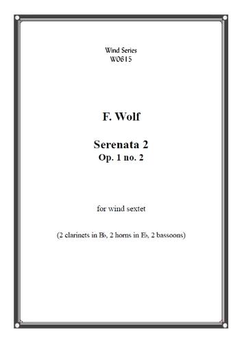 SERENATA Op.1 No.2 (score & parts)