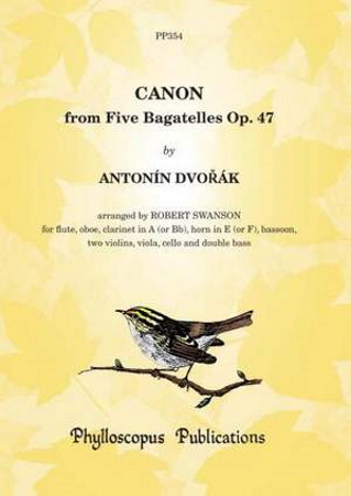 CANON from Five Bagatelles Op.47 (score & parts)