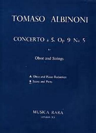 CONCERTO a 5, Op.9 No.5 in C score & parts