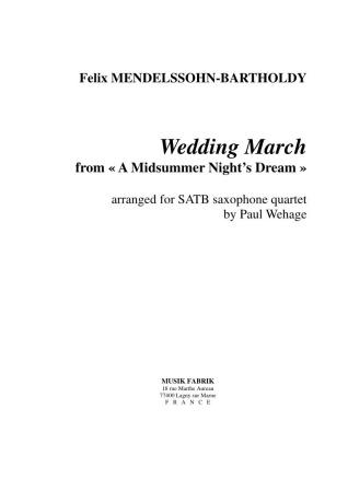 WEDDING MARCH (score & parts)