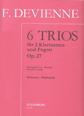 SIX TRIOS Op.27 (set of parts)