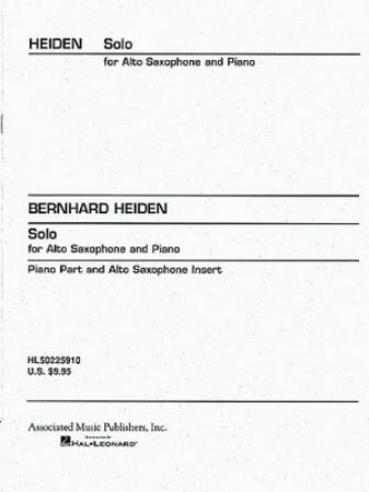 SOLO for ALTO SAXOPHONE AND PIANO