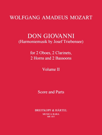 DON GIOVANNI Volume 2 (score & parts)