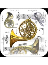 COASTERS French Horn (Pack of 4)