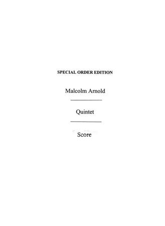 QUINTET Op.7 score