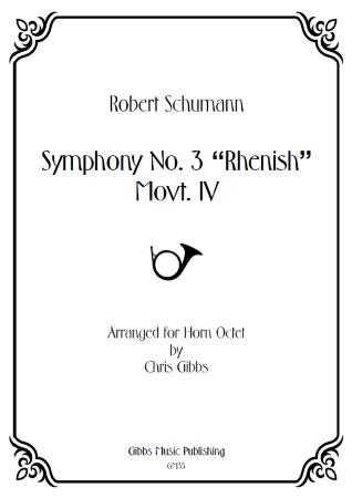 SYMPHONY No.3 'Rhenish', 4th Movement (score & parts)