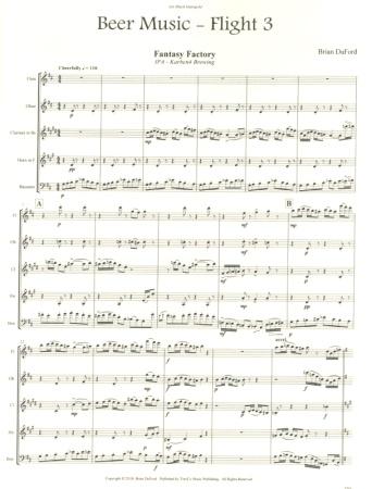 BEER MUSIC Flight Three (score & parts)