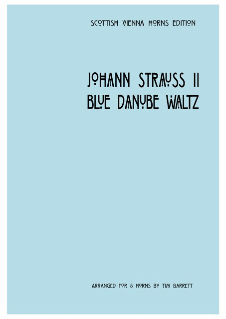 BLUE DANUBE WALTZ score & parts