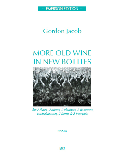 MORE OLD WINE IN NEW BOTTLES (score & parts)