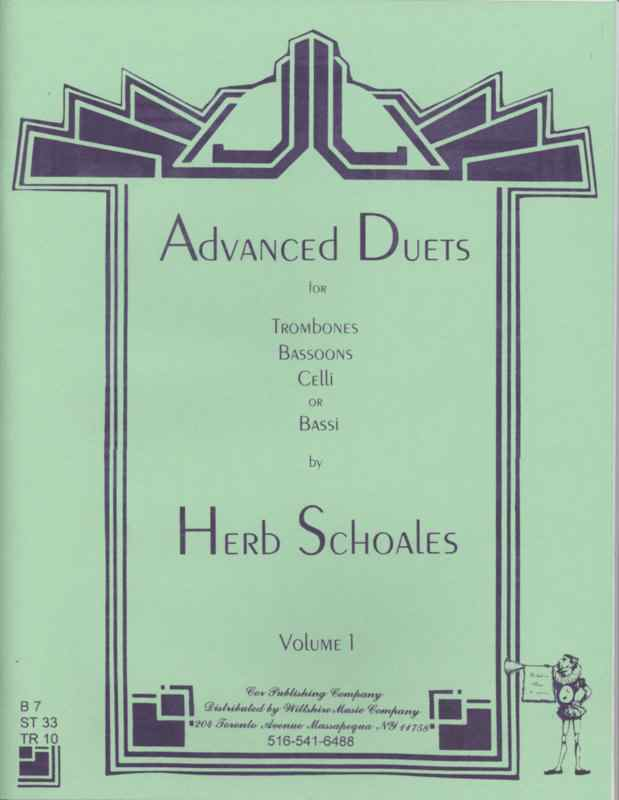 ADVANCED DUETS for Lower Voiced Instruments Volume 1