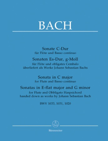 THREE SONATAS BWV1020, 1031 & 1033