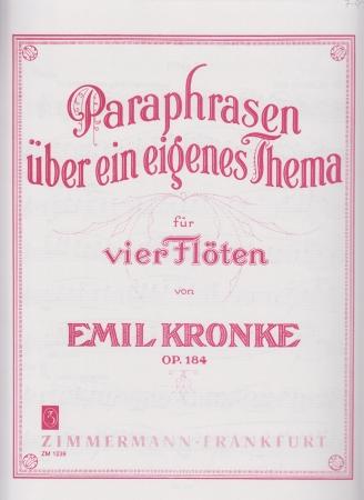 PARAPHRASEN UBEN EIN EIGENES THEMA Op.184 (set of parts)