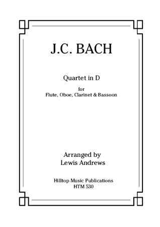 QUARTET in D major (score & parts)