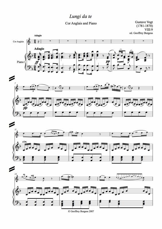 SELECTED WORKS for Cor Anglais and Piano