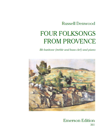 FOUR FOLKSONGS FROM PROVENCE