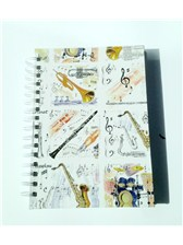 A6 HARDBACK SPIRAL BOUND NOTEBOOK Musical Instruments
