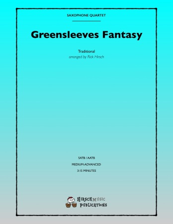 GREENSLEEVES FANTASY (score & parts)