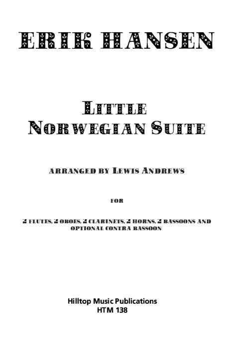 LITTLE NORWEGIAN SUITE (score & parts)